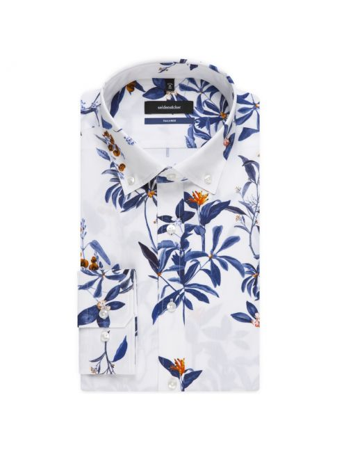 Chemise ajustée Printed capsule LEGGIUNO motif jungle bleu orange