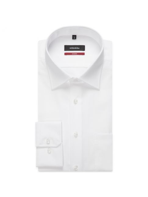 Chemise droite blanche manches extra-courtes