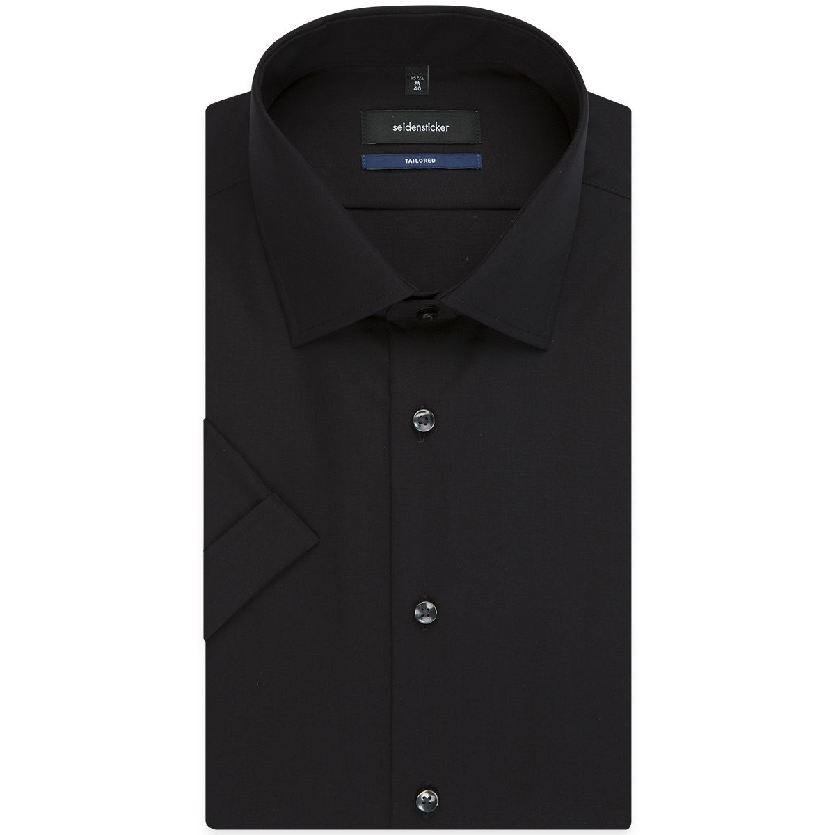 Chemisette TAILORED noire col français