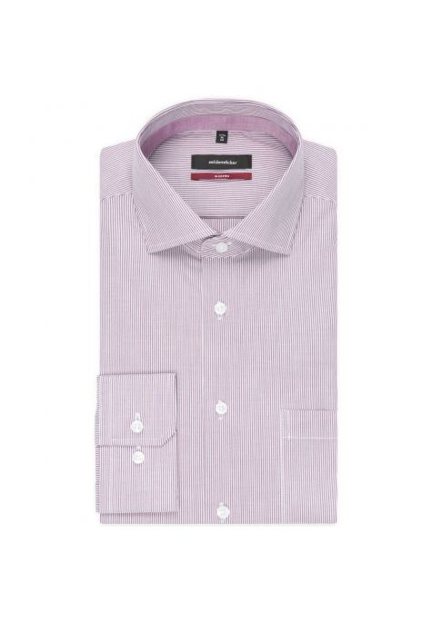 Chemise droite rayures Bengale framboise