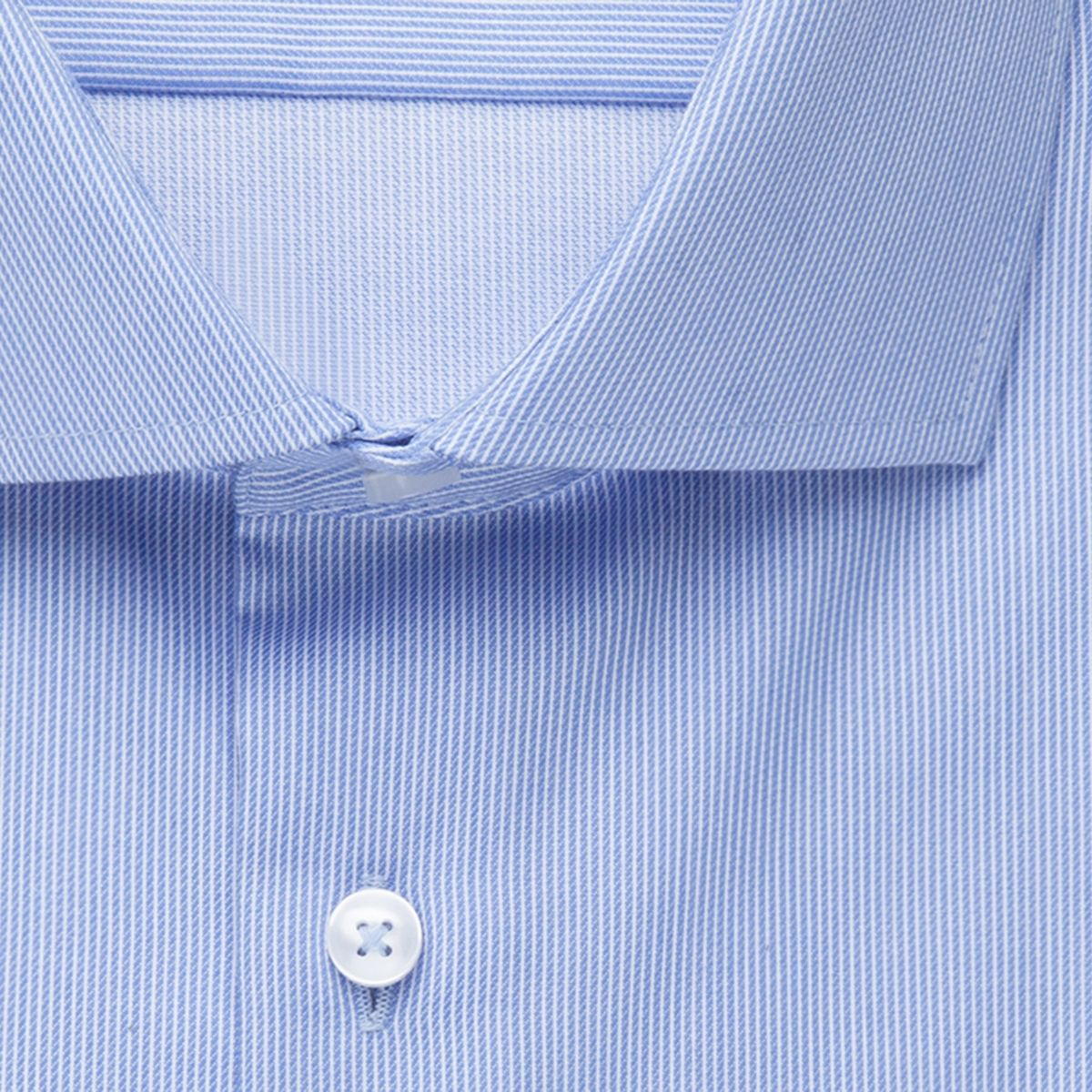 Chemise extra-slim fines rayures bleu ciel twill