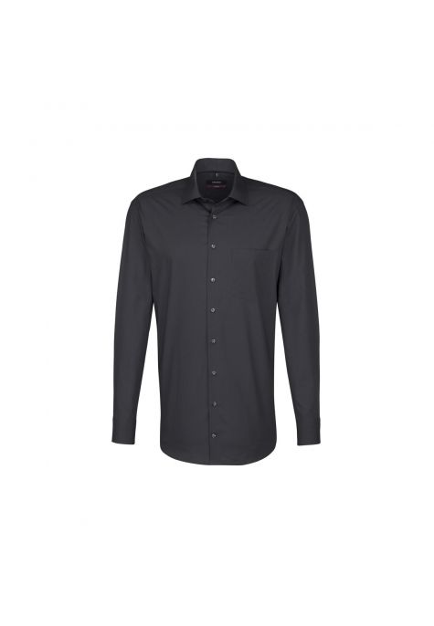 Chemise droite Printed gris anthracite