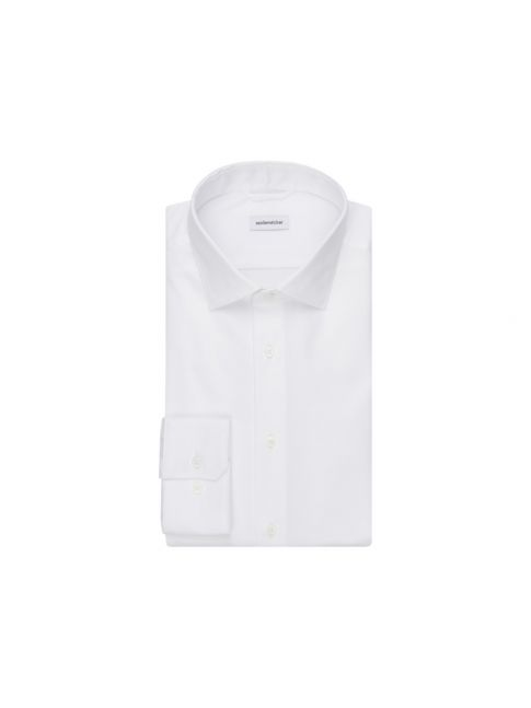 Chemise extra-slim blanche twill col ville