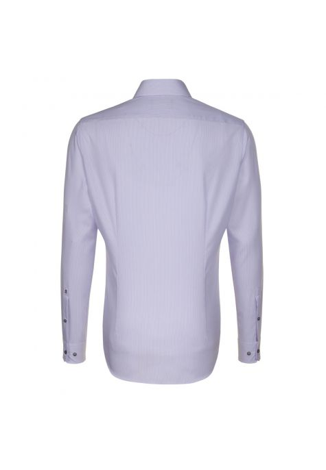 Chemise TAILORED rayures Bengale lilas col français