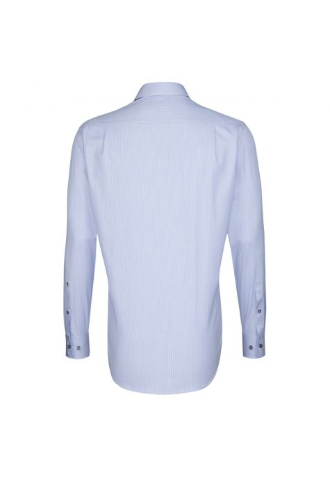 Chemise MODERN fines rayures bleu ciel manches extra-longues