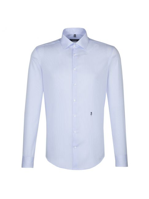 Chemise extra-slim Collector fines rayures bleu ciel