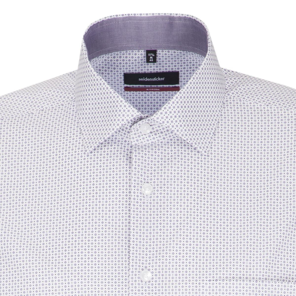 Chemise droite Printed parme