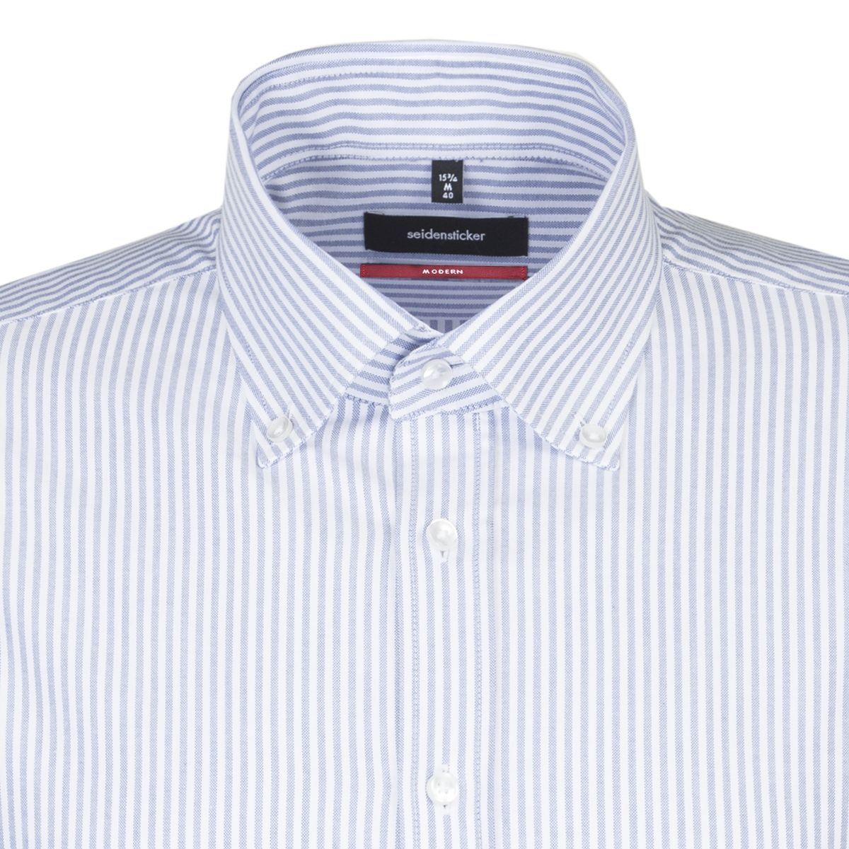 Chemise droite Printed rayures bleu ciel oxford