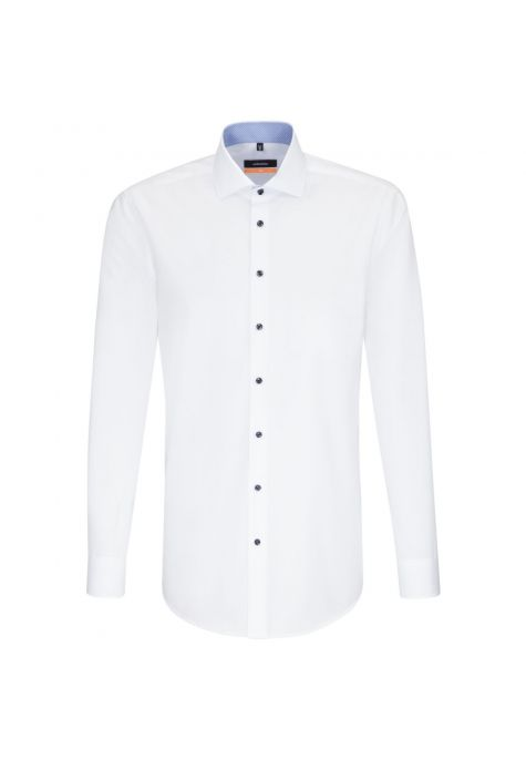Chemise slim blanche manches extra-longues