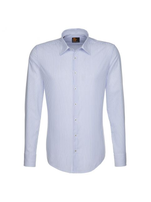 Chemise Uno Super Slim rayures fines bleues
