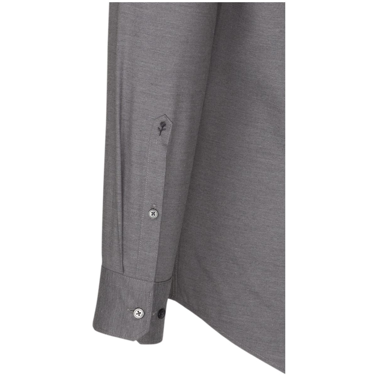 Chemise droite Printed twill gris perle